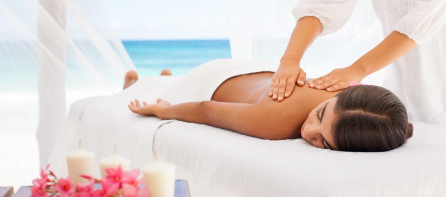 Beautiful woman getting a massage